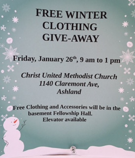 Christ United Methodist Church - Clothing Giveaway