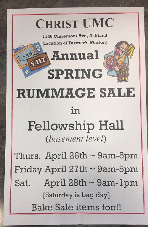 Christ United Methodist Church Rummage Sale - Associated Charities